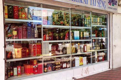 Shop selling all kinds of liquer