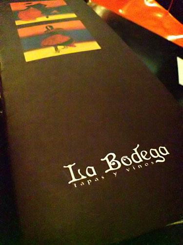 La Bodega menu