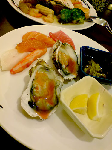 Sashimi and oyster