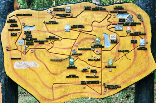 The map of Taman Pertanian Malaysia