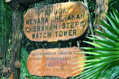 Cherakah Tower's sign board