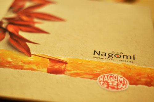 Nagomi menu