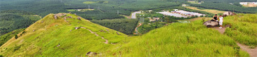 Panorama view from the peak