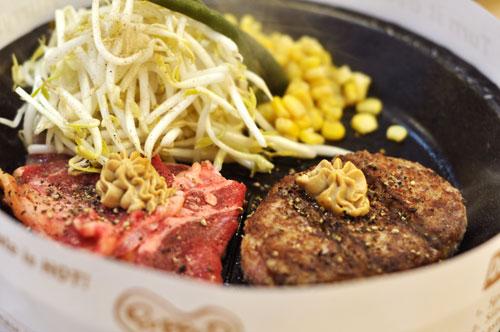 Slice beef and hamburger