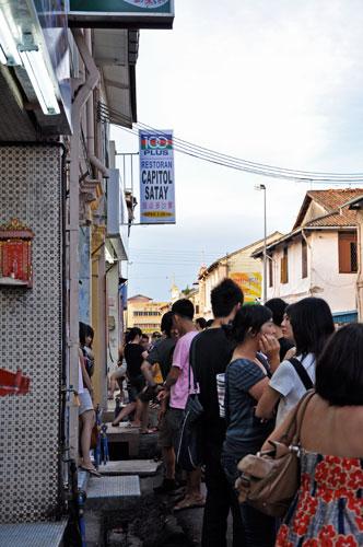 Capitol Satay queue