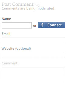 Facebook Connect login button