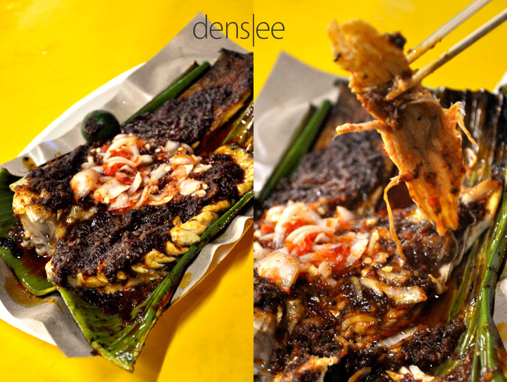 Ikan Pari bakar (pan fried stingray).