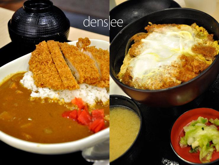Katsu Curry and Katsu Don at Tonkatsu Ginza Bairin.