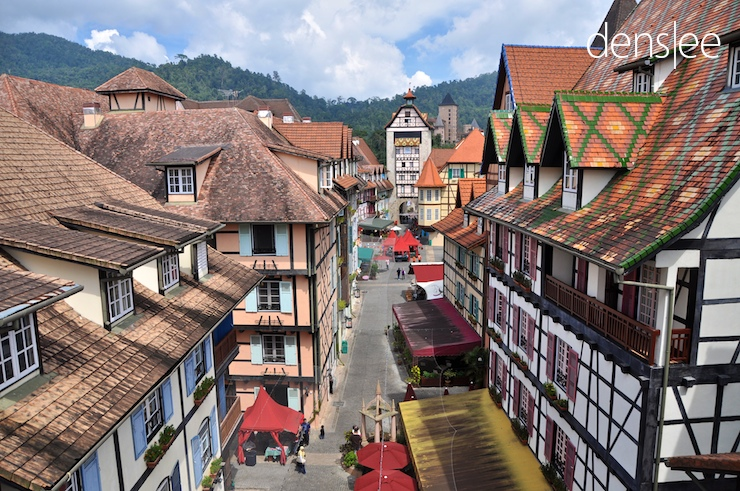 Colmar Tropicale -- a Franch-themed resort.
