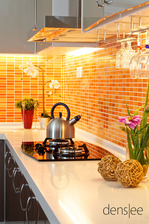 kitchen Just stunning! #ppgorange  Orange Kitchen Decor  Pinterest